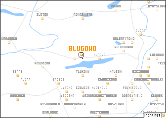 map of Bługowo