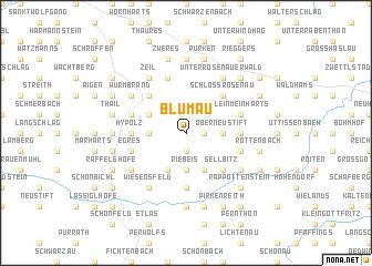 map of Blumau