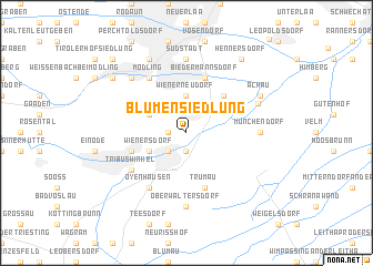 map of Blumensiedlung