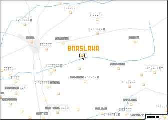 map of Bnaslawa