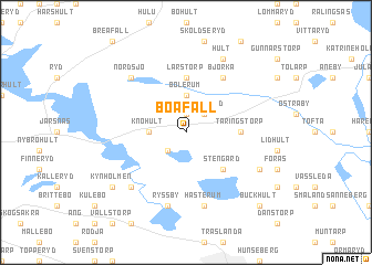map of Boafall