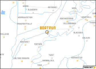 map of Boat Run