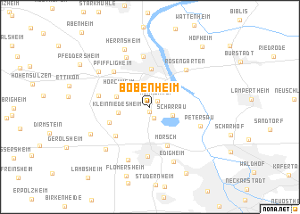 map of Bobenheim