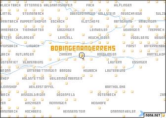 map of Böbingen an der Rems