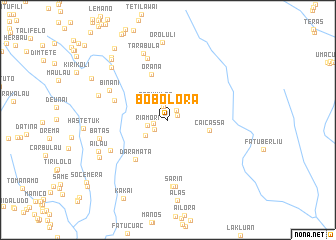 map of Bobolora