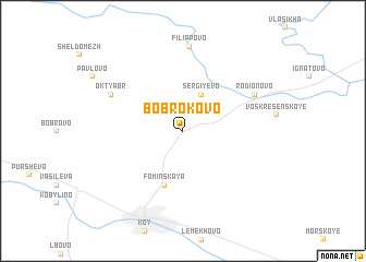 map of Bobrokovo