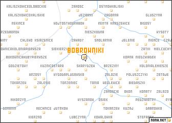 map of Bobrowniki