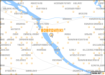 map of Bobrowniki