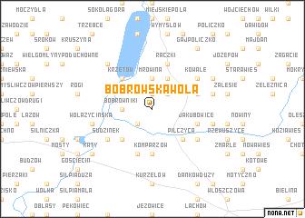 map of Bobrowska Wola