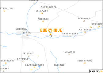 map of Bobrykove