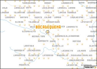 map of Boca de Quema