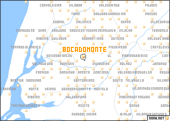 map of Boca do Monte