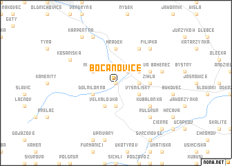 map of Bocanovice