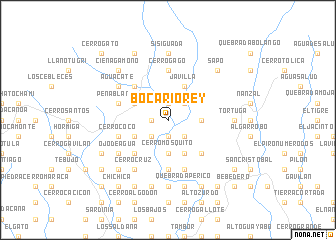 map of Boca Río Rey