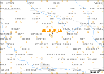 map of Bochovice