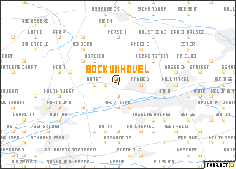 map of Bockum-Hövel