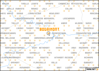 map of Bodaimont