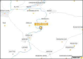 map of Bodakva