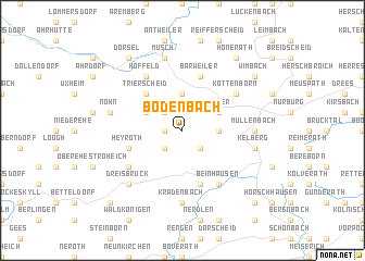 map of Bodenbach