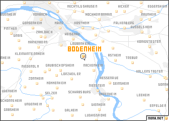 map of Bodenheim