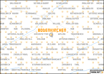 map of Bodenkirchen