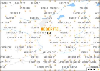 map of Boderitz