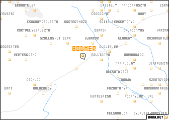 map of Bodmér