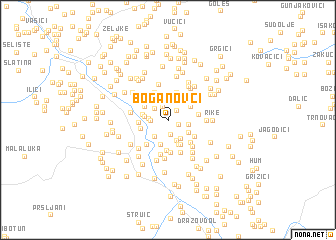 map of Boganovci