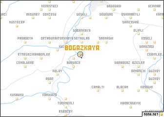 map of Boğazkaya