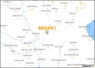 map of Bogdanci
