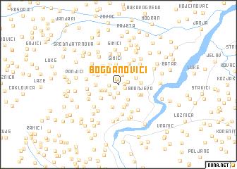 map of Bogdanovići