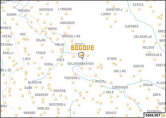map of Bogovë