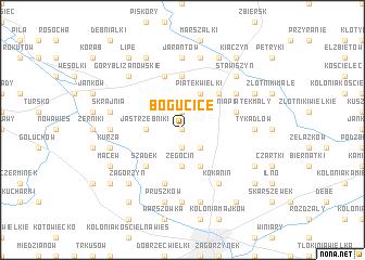 map of Bogucice