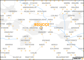 map of Bogucice