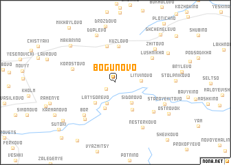 map of Bogunovo