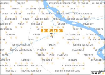 map of Boguszków