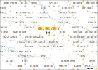 map of Bógwidzowy