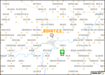 map of Bohatice