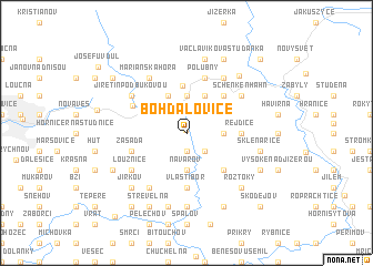 map of Bohdalovice