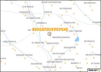 map of Bohdanove Pershe