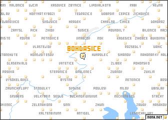 map of Bohdašice