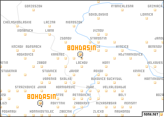 map of Bohdašín