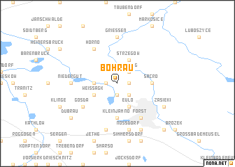 map of Bohrau