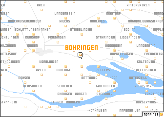 map of Böhringen