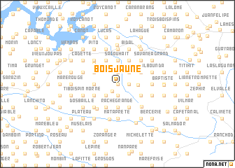 map of Bois Jaune