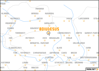 map of Boiu de Sus