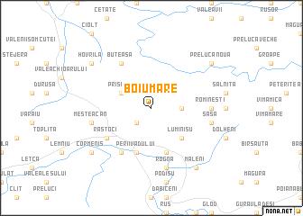 map of Boiu Mare