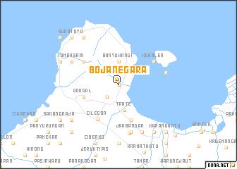 map of Bojanegara