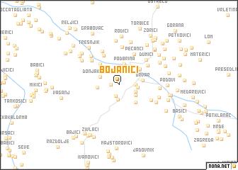 map of Bojanići