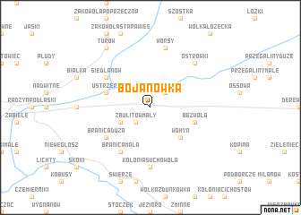 map of Bojanówka